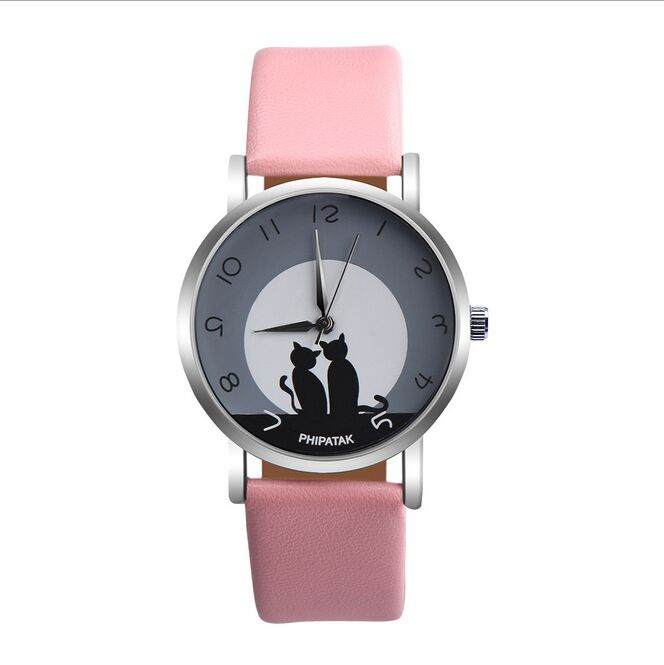 New arrive 2017 Clay Cute 3d Mini World children Cat Watches Clock Women kids Watch Ladies Quartz Wristwatches drop shipping mini world mn202