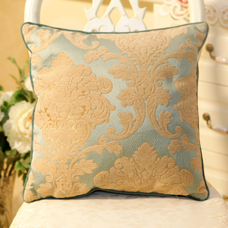 Sofa Cushion Cover Stitching: Classical European style luxury velvet stereo embroidery bed sofa    ,