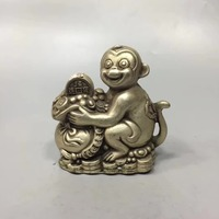 Good Fortune Chinese hand carved sculptures monkey