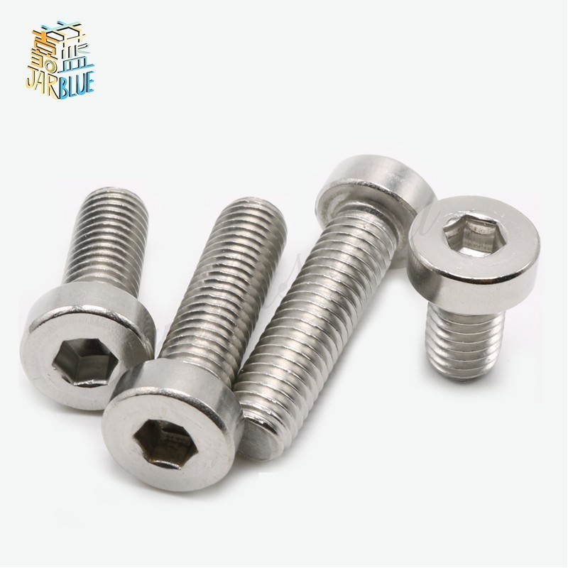 <font><b>M3</b></font> M4 M5 M6 304 A2-70 Stainless Steel Din7984 Hex Hexagon Socket Thin Low Short Profile Head Allen Cap Screw Bolt L=4-<font><b>40mm</b></font> image