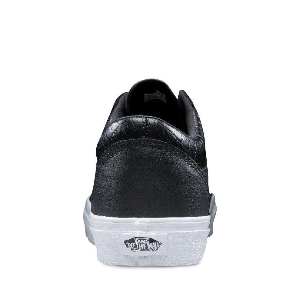 Men Black Low Sneakers Grid Leather Sports Vans Top Trainers axaZ0rq f7fadbdba