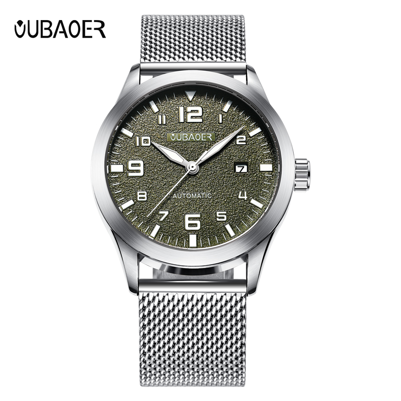 OUBAOER Military Automatic Watch Auto Date Mechanical Watches Steel Self Wind Wristwatches Reloj Automatico De Hombre OB2028OUBAOER Military Automatic Watch Auto Date Mechanical Watches Steel Self Wind Wristwatches Reloj Automatico De Hombre OB2028