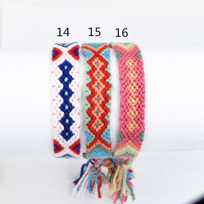 Retail Multicolor Rainbow Chunky Rope Braided Friendship Handmade Manual Weaving Geometric Bracelet