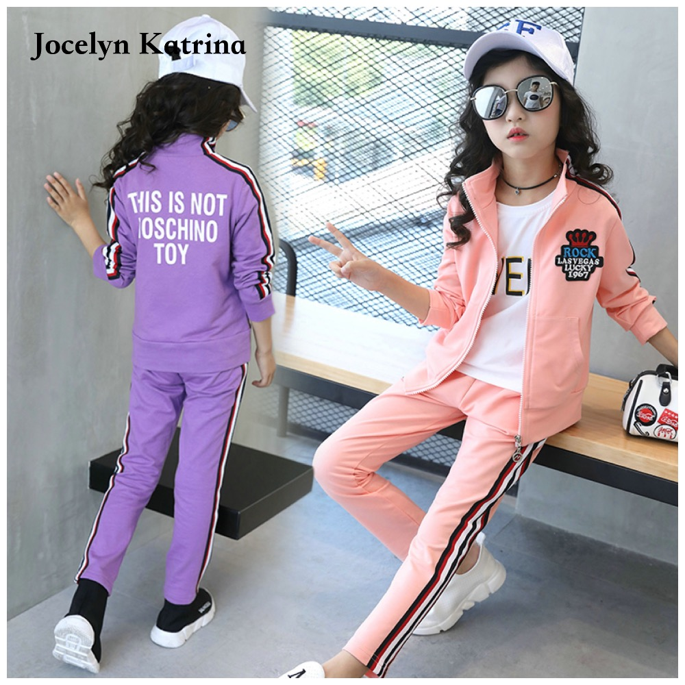 Jocelyn Katrina Spring/Autumn girls clothing sets Kids sport suit children girl's clothes girl suits clothes girls 2pcs set 15 free shipping top striped dress children baby 3 pcs suit set girl s clothing sets girls sport suits chilren set