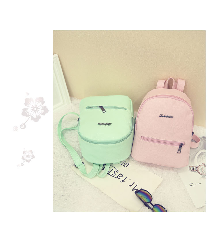 HTB1zzVeuhuTBuNkHFNRq6A9qpXaD 2019 New Backpack Summer Small Women Backpack Candy Color Student Travel Shoulder Bags Teenager Girls Female Mochila Bagpack