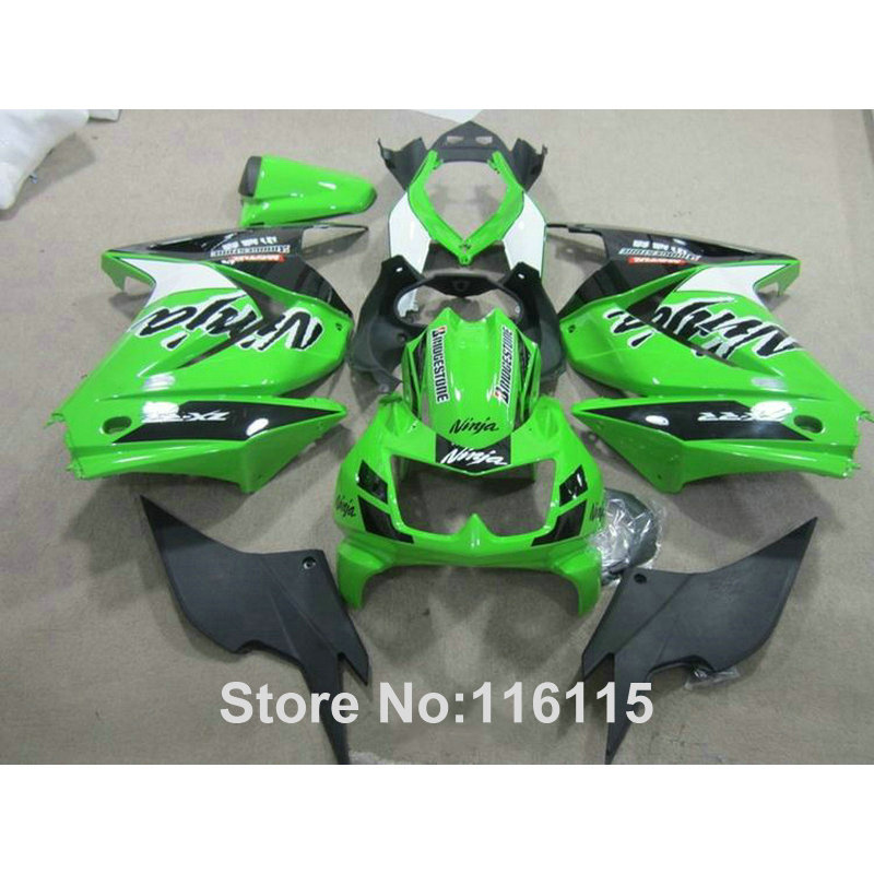 100% fit for Kawasaki Ninja fairings 250r 2008 2009 2010-2014 injection molding EX250 08-14 green black fairing kit ZX250 UQ4 hot sales yzf600 r6 08 14 set for yamaha r6 fairing kit 2008 2014 red and white bodywork fairings injection molding