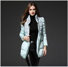 Europe Latest Women Fashion Coat Standing collar Thickening Super Warm Down jacket Slim Leisure Big yards Medium long Coat G2233