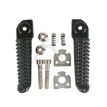 Motorcycle Aluminum Black/Silver Rear Footrests Foot Pegs Passenger For Yamaha YZF R1 2002-2014 R6 2003-2017