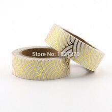 1pcs Gold Foil Washi Tape Japanese Paper 1.5*10meter Kawaii Scrapbooking Tools Solid Colors Masking Tape Adhesiva Decorativa цена и фото
