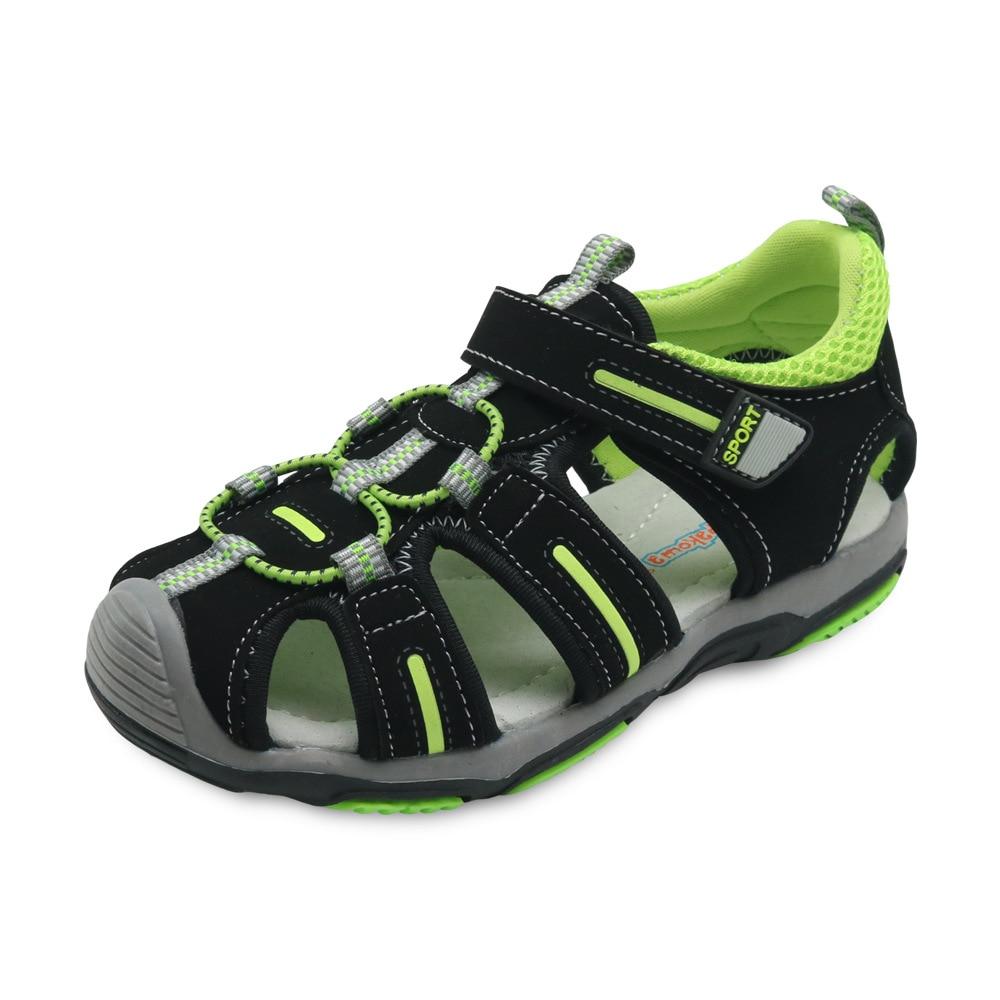 Fashion Children Footwear Hook & Loop Rubber Flat Heels Boy Casual Shoes Closed Toe Toddler Boys Sandals Summer Kids Shoes 2018