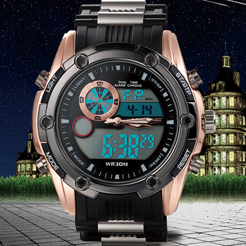 2016 NEW Top Brand Luxury Sport Watches Men Digital Analog Shock Watch Army Military Waterproof Wristwatches