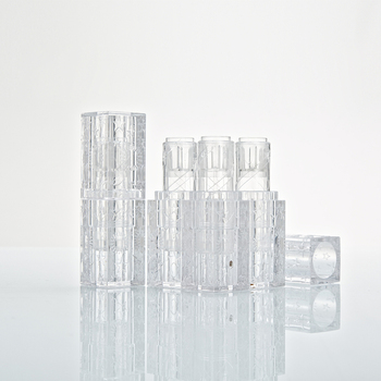 Transparent Square 12.1mm Lipstick Tube, Bamboo Lip Balm Container