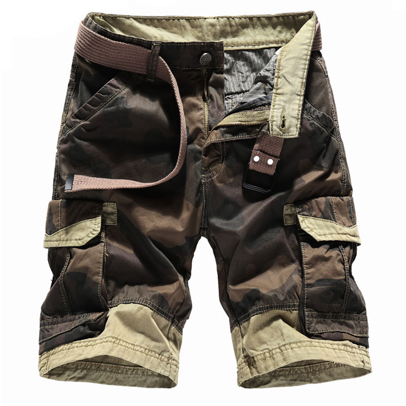 2020 New Fashion Men Summer Camouflage Cargo Shorts Camo Trousers Tractical Overalls Bermuda Masculina 30-40 AXP53