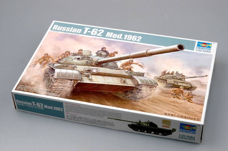 Trumpeter Model 00376 1/35 Russian T-62 Mod.1962 Tank Model Kit