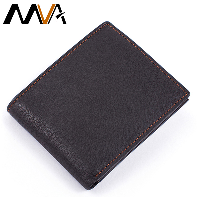 MVA New Brand Smart Clutch Wallet Male Purse Short Men Wallets Genuine Leather Male Card Holder Wallet for Coin Purse Men 8151 contact s 2018 men wallet genuine leather men wallet crazy horse cowhide leather short male clutch coin purse card holder wallet