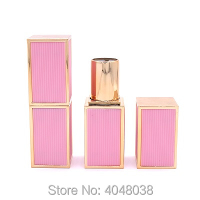 Empty Lip Balm Tube Square Lipstick Tubes 12.1mm White Black Pink Plastic Cosmetic Packaging Lip Stick Containers (6)