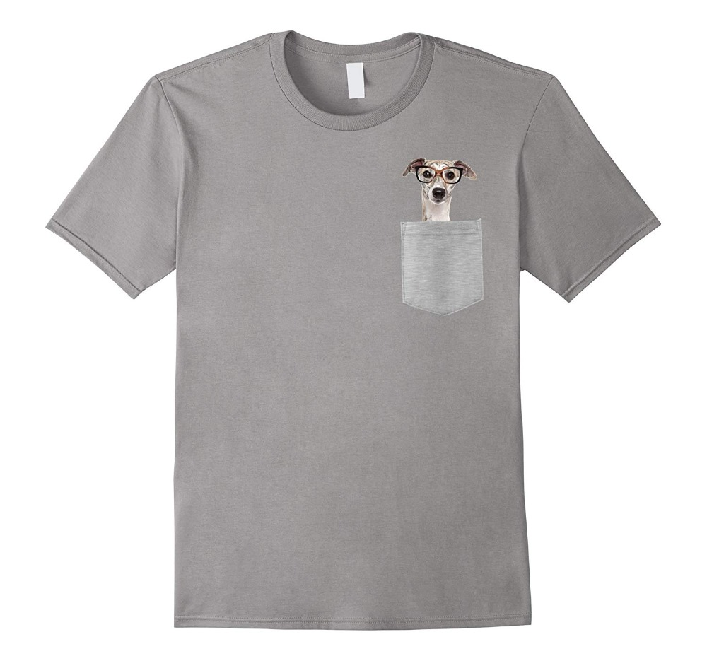 Tee Shirt Mens 2019 New Tee Shirts Printing Fashion Print T Shirt Plus Size Dog In Your Pocket Greyhound With Glasses On T Shirt Футболка