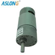 цена на JGB37-555 High Torque Low Speed Planetary DC Gear Micro Motor  555 dc gear box motor  12v 24v 10-1300rpm gear motor to robot arm
