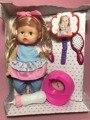 Моделирование мода 30 см Пить воду, гребень волос, может писать, а может выступать живой куклы модель Мягкая Возрождается детские Куклы детские игрушки