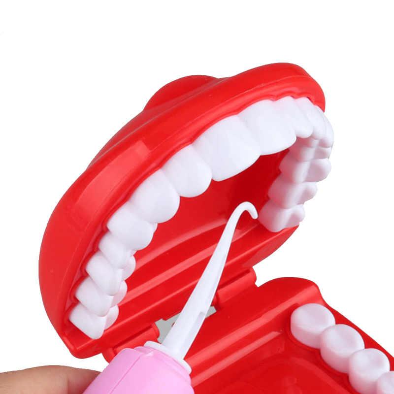 9 Pcs Conjunto Modelo de Brinquedo de Simulação de Verificar Dental do Dentista Médica Suíte J75 Educacional Finja Role Playing Brinquedos de Aprendizagem para As Crianças