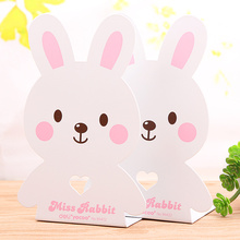 1 Pair Strong Metal Book End Cartoon Miss Rabbit Desk Accessories Organizer School Supplies 7 Inch 180mm Deli 95422