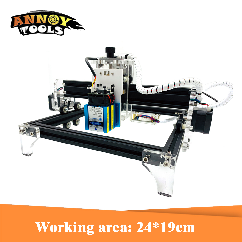 GRBL 15W CNC machine de gravure laser 500mw 2500MW 5.5W 15000MWLaser cutter entièrement assemblé 24*19cm zone de travail routeur en bois