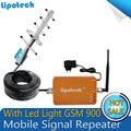 1 Conjunto de 900 Mhz GSM Repetidor de Sinal Amplificador Booster de Sinal de Telefone Celular GSM900 Mhz da cor do Ouro para o telefone móvel equipado GSM, CDMA, 2G