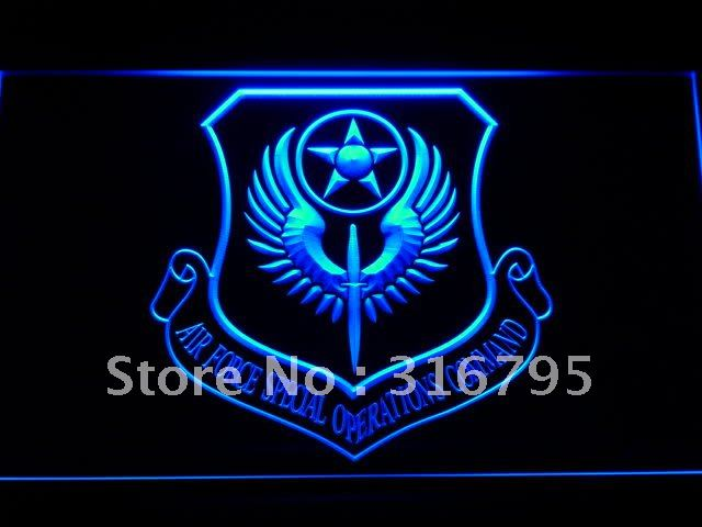 <font><b>f196</b></font> Air Force Special Operations Comm LED Neon Light Signs image