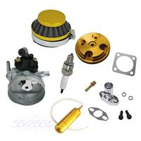 Yellow CNC Cylinder Head Cover Carburetor Fit 80cc Motorized Bicycle Engine