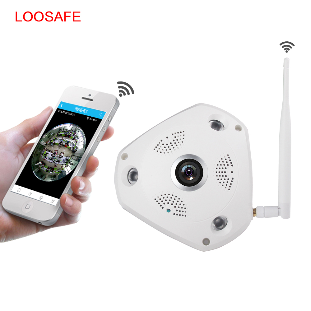 LOOSAFE 3MP CCTV Camera Wi-fi Security Camera Video Door Phone Wireless CCTV Surveillance Camera 360 Degree VR Panorama IP Cam