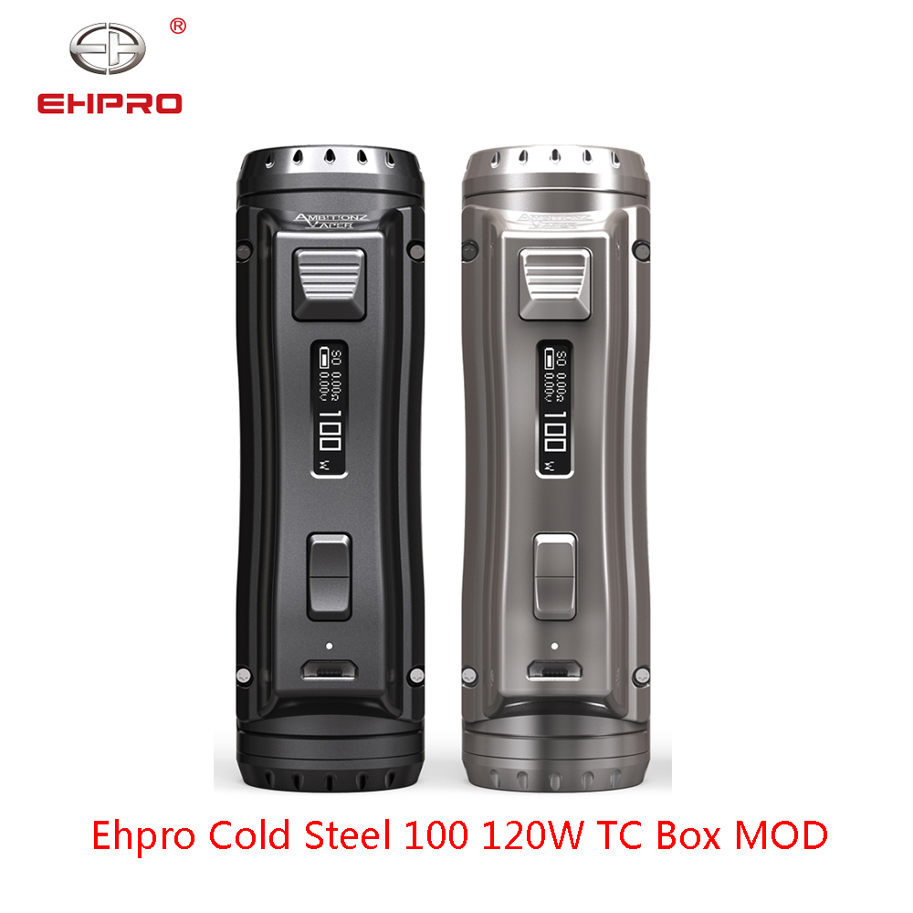 New Arrival Ehpro Cold Steel 100 120W TC Box MOD with 0.0018S Ultrafast Firing Speed & Online Software Update vs Drag 2 Mod(China)