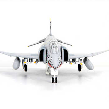 kids toys 1/100 U-4C Alloy Diecast Fighter air plane Phantom2 Air Force Diecast Aircraft Plane model Toy new year gift for boy
