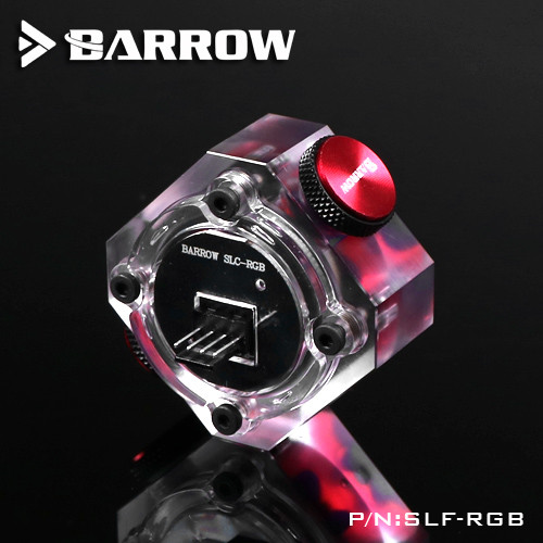 BARROW Water Flow Velocity Meter (RGB) SLF-RGB Water Cooler System Transparent RGB Standard Type Flow Indicator