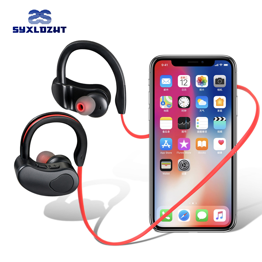 Sport Bluetooth Earphone Stereo Wireless Headphones With Microphone bluetooth Headsets Earbuds For Phone kulakl k xiaomi azexi air66 wireless bluetooth headphones sport earbuds tws earphone with microphone charging box subwoofer for mobile phone
