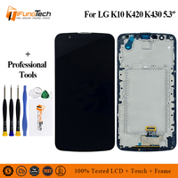 For LG K10 K410 K430 K420 LCD Display with Touch Screen Digitizer With Frame Bezel Assembly Free Shipping