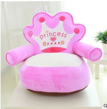 Hot Pink Princess Baby Chair Seat Kids Bean Bag Blue Crown Baby Beanbag  Sofa Bed Children