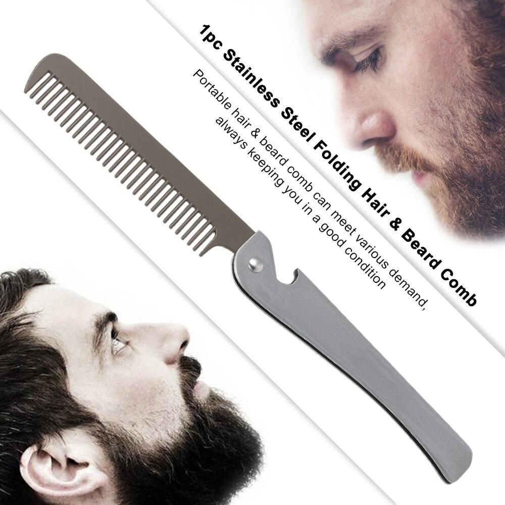 stainless steel hair beard comb