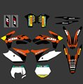 0317  NEW TEAM  GRAPHICS WITH MATCHING BACKGROUNDS FIT FOR KTM SX SXF 125/150/200/250/350 /450/500 2011-2012