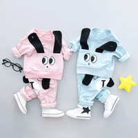 2018 Newborn Baby Boys Girls Clothes Sets Spring Kids Big Eyes Outfit Casual Cotton Costume Baby
