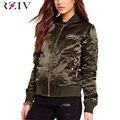Patchs RZIV mulheres jaqueta casaco 2016 outono jaqueta Casual básico das mulheres casacos de inverno jaqueta outwear