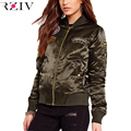 RZIV women jacket patchs coat 2016 autumn bomber jacket Casual women basic coats winter jacket outwear