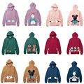 A família Roupas Combinando 2017 Algodão Mickey Hoodies Para Mon Filha Filho Pai Roupas Da Família Do Bebê Outfits Outono Olhar Família