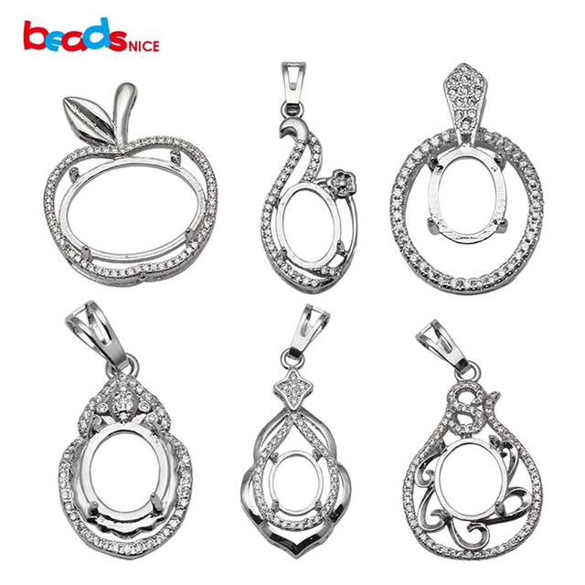 Beadsnice jewelry setting sterling silver pendant semi mount women beadsnice jewelry setting sterling silver pendant semi mount women necklace pendant making id 34053 mozeypictures Image collections