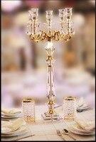 35,43 zoll Überlegene qualität diamant kristall leuchter hochzeit tischdekoration kristallkandelaber