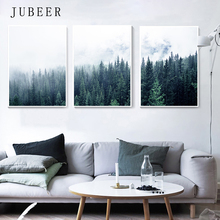 Scandinavian Style Landscape Poster Modern Wall Paintings Forest for Living Room Decoration Pictures Nordic Home