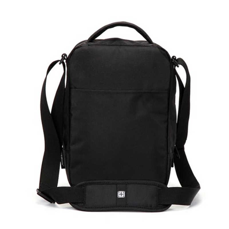 """حقيبة كتف سويسرية الترفيه حقيبة صغيرة حقيبة ساعي ل 9.7 """"11"""" أقراص والوثائق الرجال حقيبة يد سوداء حقيبة كروسبودي"""