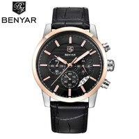 Reloj Hombre 2017 BENYAR Mens Fashion Chronograph Sport Watches Men Top Brand Luxury Business Quartz Watch