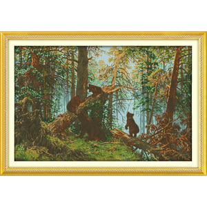 Image 1 - Everlasting Love Christmas Pine Forest Morning Ecological Cotton Cross Stitch 11CTและ14CTพิมพ์ใหม่Storeขาย