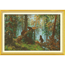 Everlasting love Christmas The pine forest morning Ecological cotton Cross Stitch 11CT and 14CT  Printed New store sales