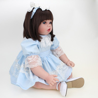 50cm 20 Inches Open mouth silicone Popular kids princess girl doll fashion reborn dolls Toys for girls Birthday Gift bonecas